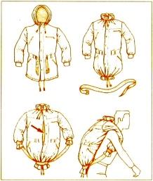 Sac a dos improvise avec une veste