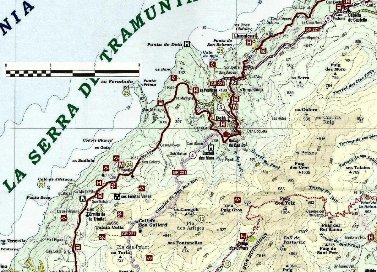 Mallorca - Cartes du GR 221