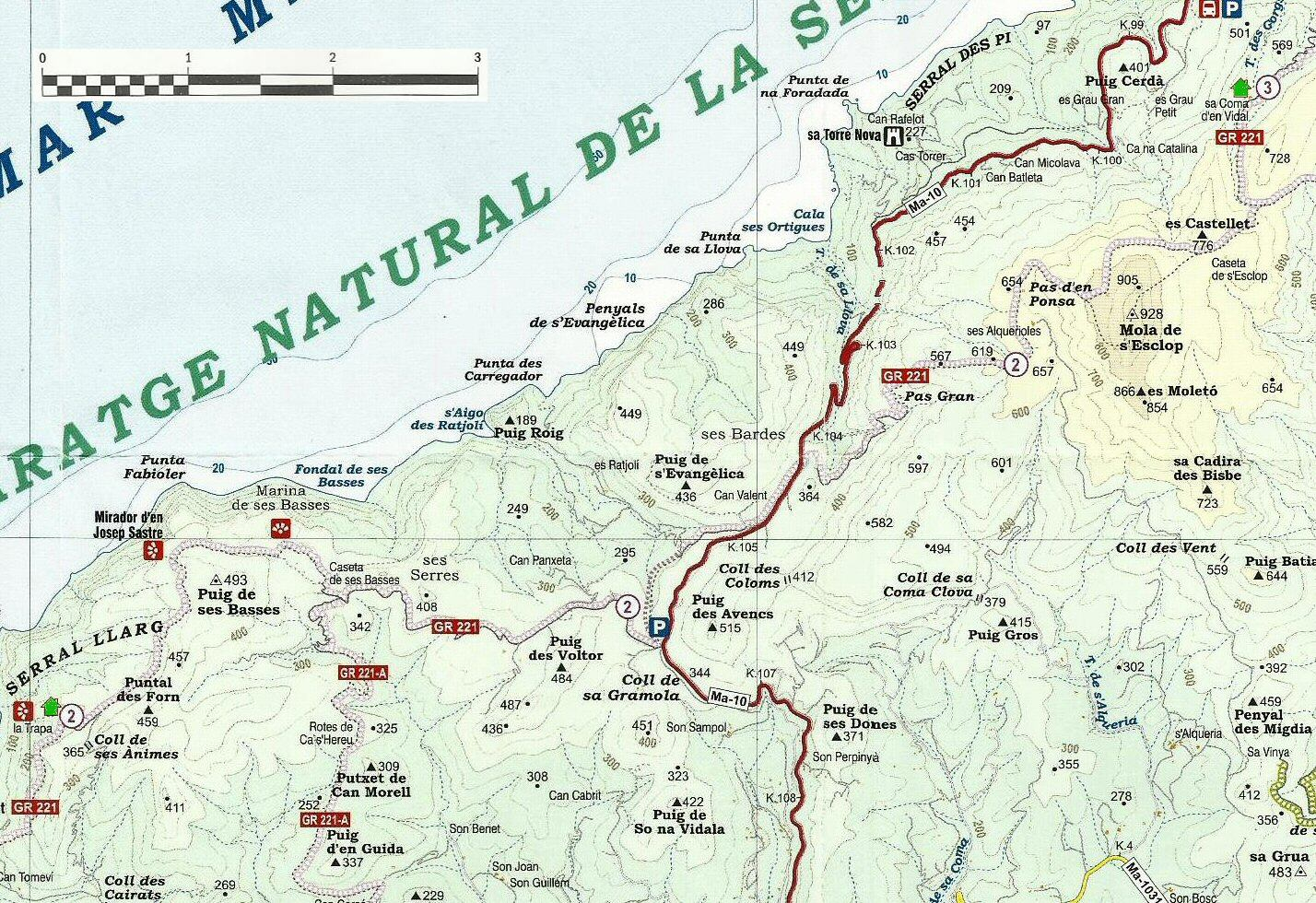 Mallorca cartes du gr 221 mayake - Carte tntsat gratuite ...