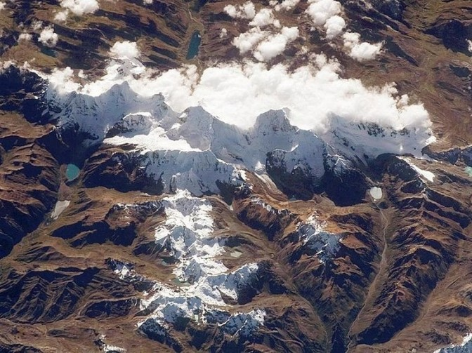 Huayhuash from space