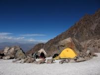 Cordillera Arequipa ascencion Chachani campamiento Azufera