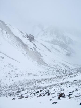 Cordillera Arequipa ascencion Chachani en hiver conditions difficiles