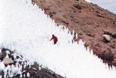 Cordillera Arequipa ascencion Chachani penitents