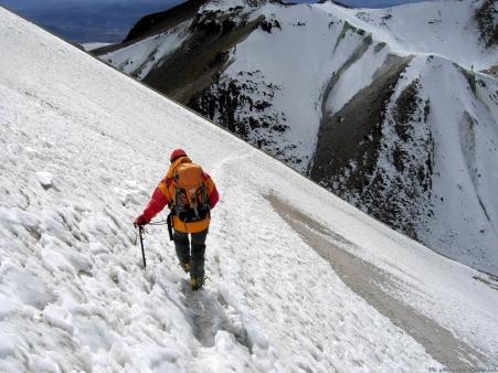 Cordillera Arequipa ascencion Chachani traversee sur pentes de Fatima