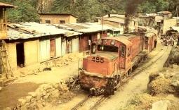 Aguas Calientes llegada del tren 1989 1