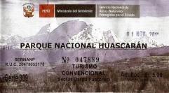 Pastoruri Huascaran PN boleto