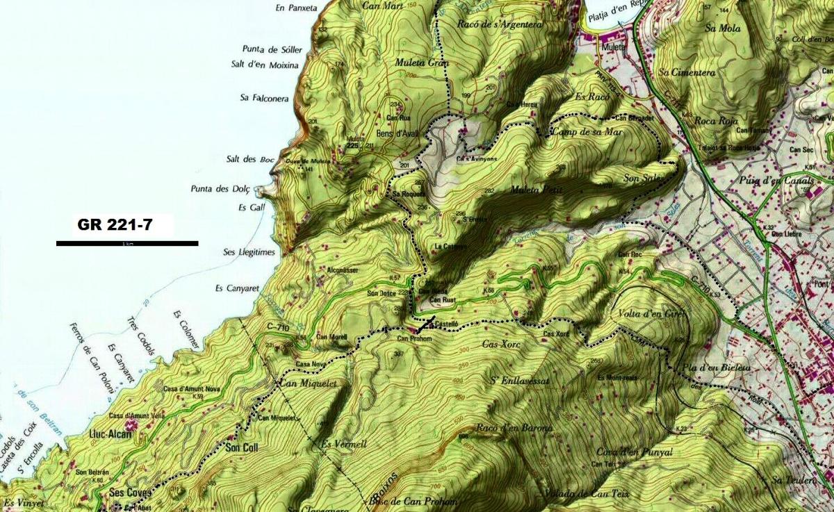 Mallorca - GR221 Cartes IGN