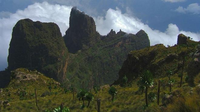 Montanas Semien en la region de Amhara-Etiopia