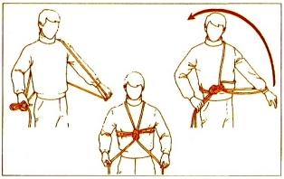 noeud harnais avec corde