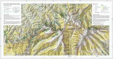 Ethiopie Simien Mountains National Park Trekking Map Compresse