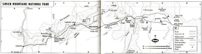 Ethiopie Simien Mountains Trekking Bradt
