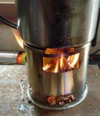 Réchaud à bois Léger 3M en inox
