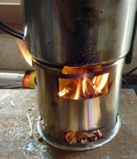 rechaud mayake inox double combustion