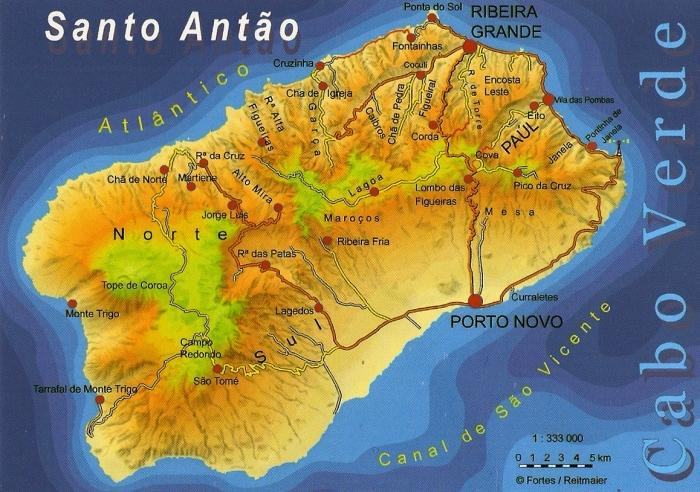 Santo-Antao carte CP