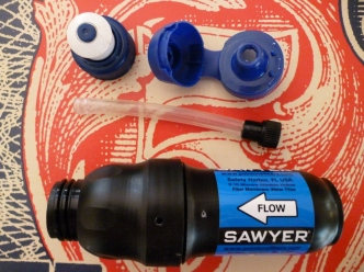 Sawyer Filter Parts 1 before fitting