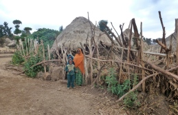 Simien 4 Geech village huttes 2