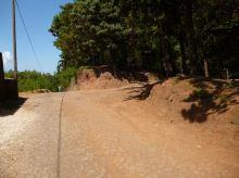CaboVerde2013-H-37 Route Pico da Cruz embranchement arrivee du 2eme Chemin en lacets