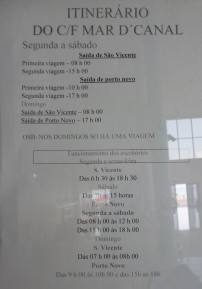 CaboVerde2013-N-03 Porto-Novo Gare Maritime Armas horaires