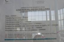 CaboVerde2013-N-06 Porto-Novo Gare Maritime Armas tarifa vehicules 1