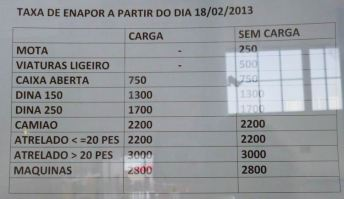 CaboVerde2013-N-07 Porto-Novo Gare Maritime Armas tarifa vehicules 2