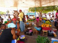 CaboVerde2013-X-54 Mindelo Place Independencia mercado stand fruits