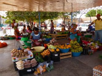 CaboVerde2013-X-55 Mindelo Place Independencia mercado stand fruits