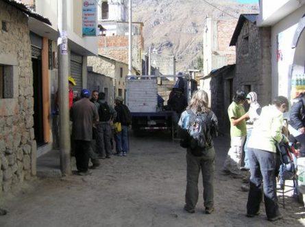 Canyon Colca Cabanaconde street