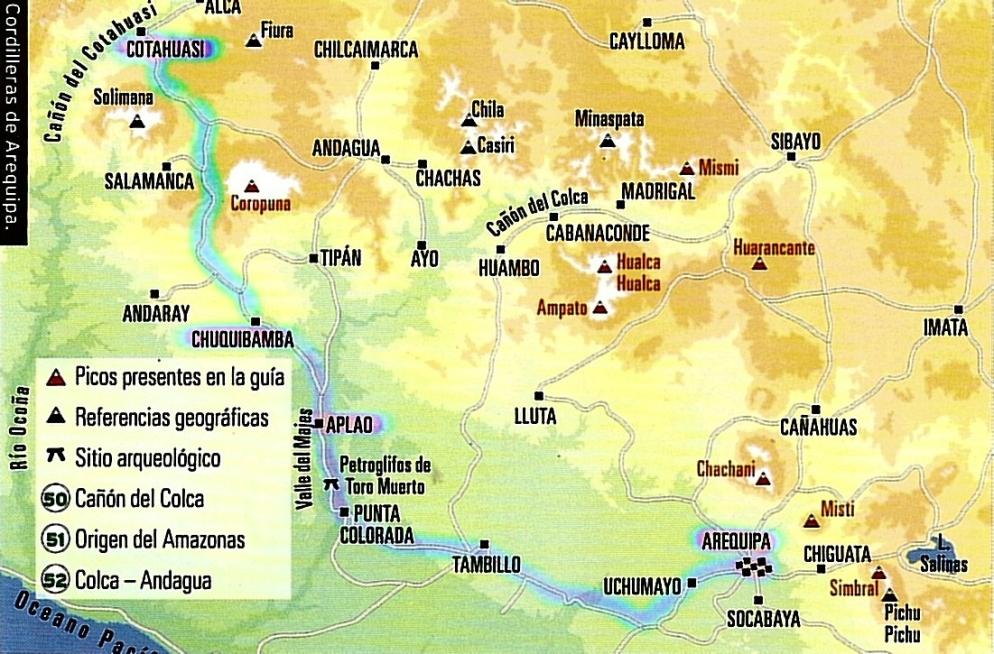 Cordillera Arequipa ascenciones y canyones