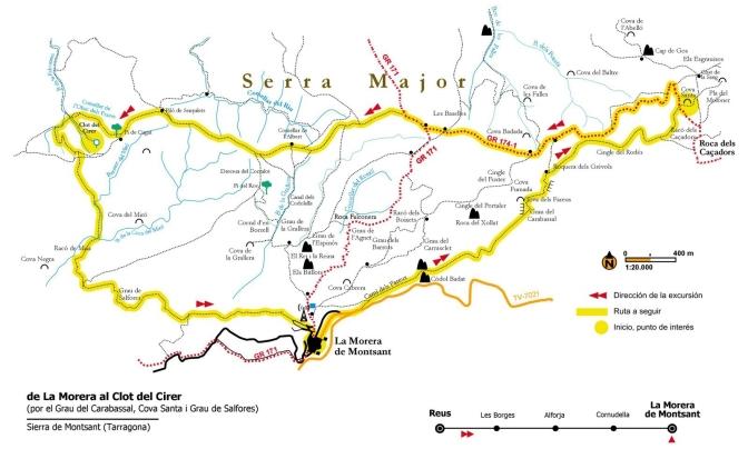Espagne - Montsant Cova Santa 0 carte de la boucle