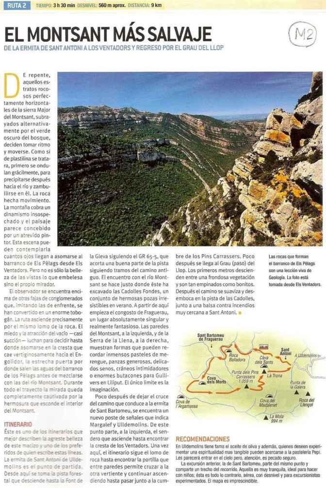 Espagne - Montsant Ruta 2 Mas Salvaje