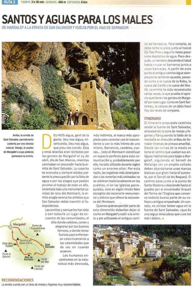 Espagne - Montsant Ruta 3 Santos Y Aguas Montsant
