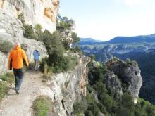 Espagne - Siurana Roca del Franquet a la derecha.