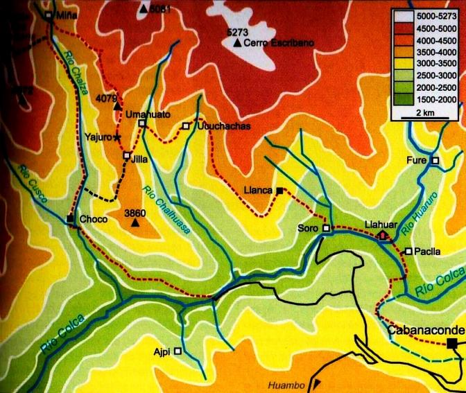 Canyon Colca villages perdus carte