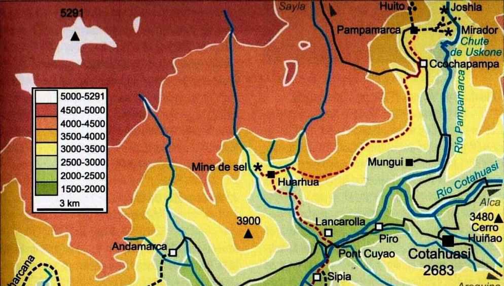 Peru Canyon Cotahuasi mapa J2