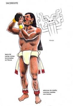 El Strombus chavin projection sacerdote de chavin