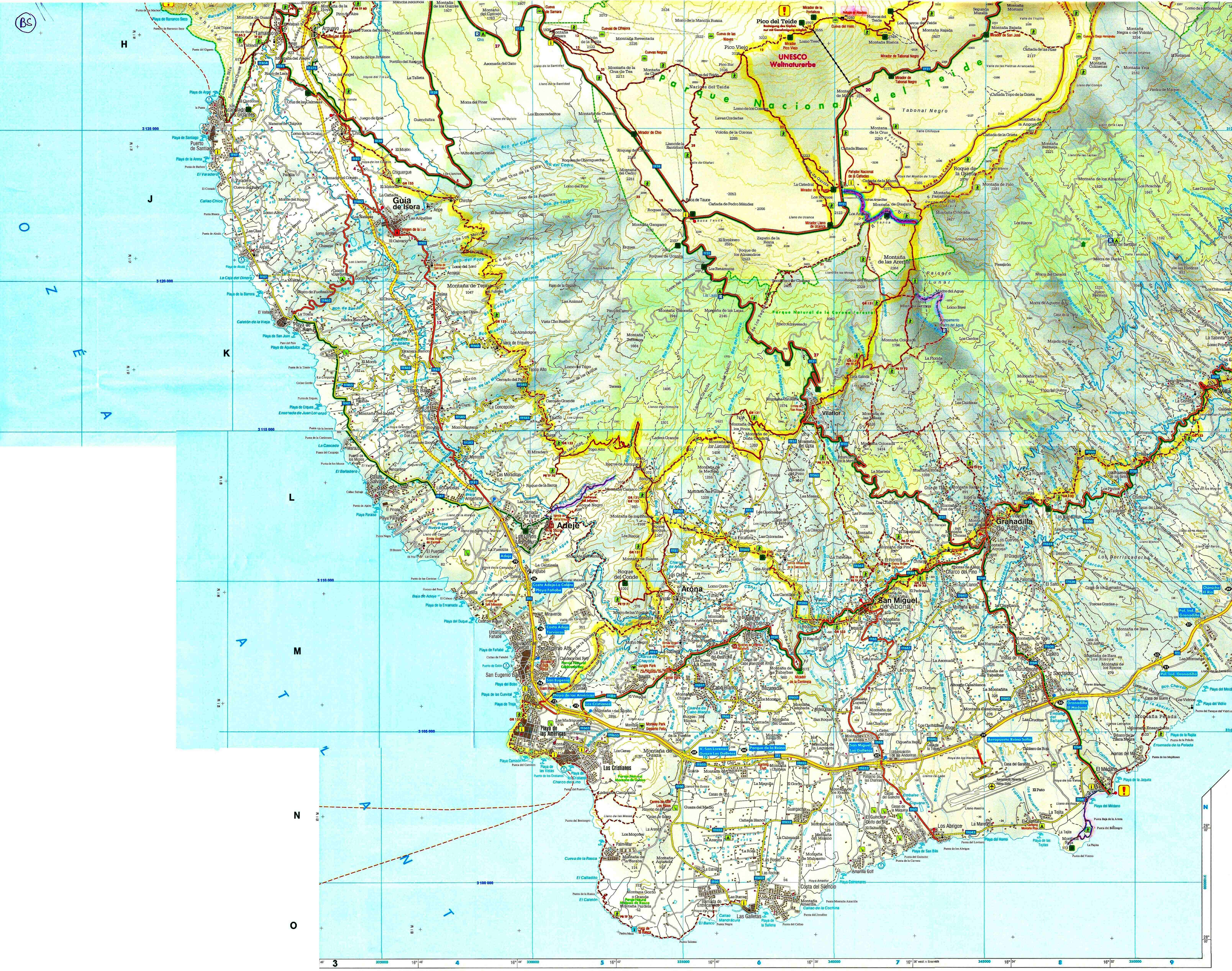 carte espagne sud ouest