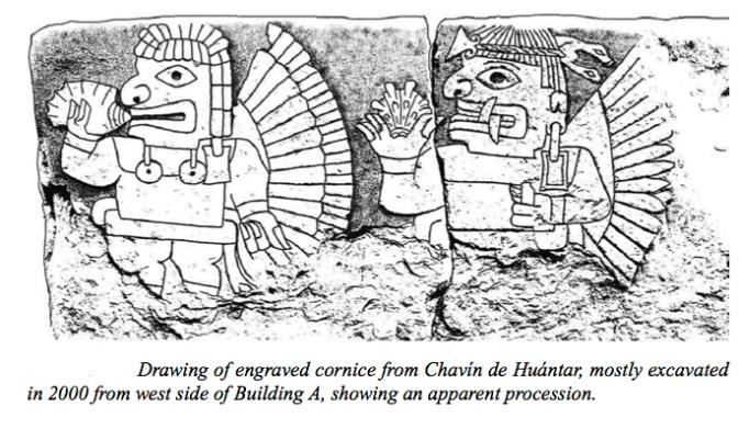 figura 14 Frisa cornisa excavada 2000 lado oeste Edificio A
