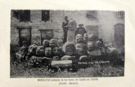 figura 25 Cabeza Clava Chavin 9 extraidas en 1955