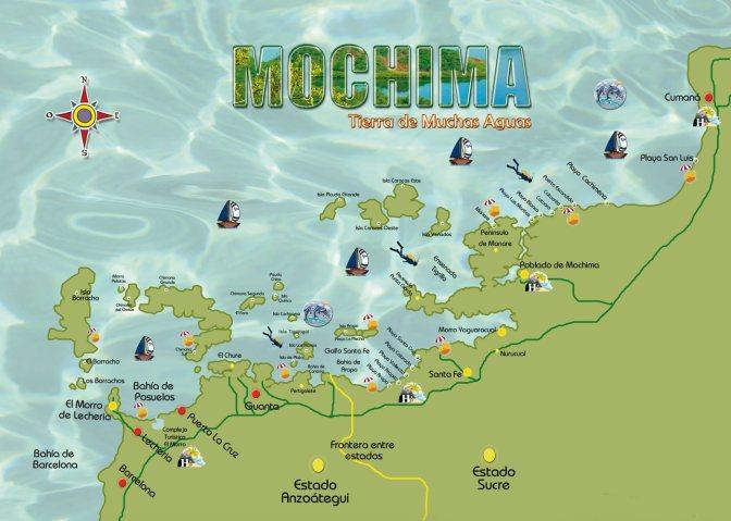 Venezuela Mochima mapa