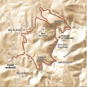 Els Ports Rambla celumbres mapa