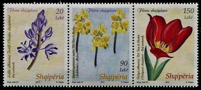 Flora shqiptare stamps