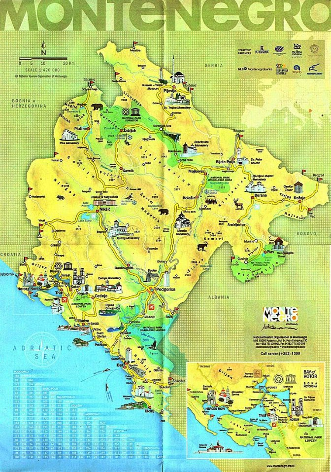 Montenegro carte