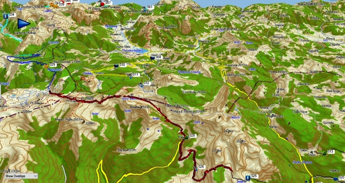 plateau de Lumbardhit, Milicevic puis Roshkodol et enfin Doberdöl