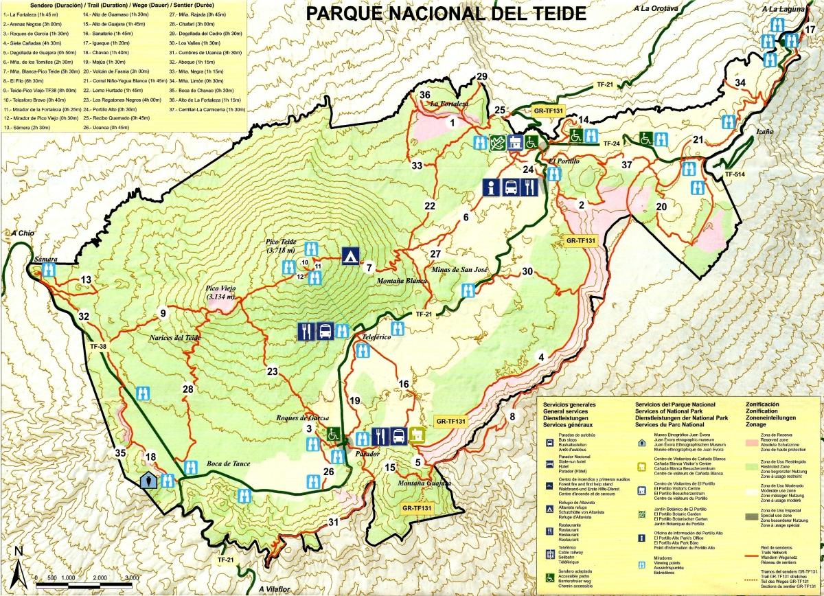 Espagne – Tenerife Cartes Teide & Anaga
